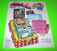 Williams TRAVEL TIME 1973 Original NOS Flipper Arcade Game Pinball Machine Flyer
