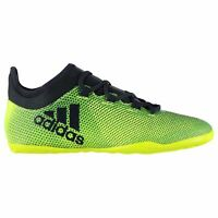 adidas X 17.3 Indoor Football Trainers Mens Yellow/Ink Soccer Futsal Shoes