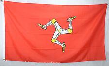 Big 1.5 Metre Isle of Man Large New Flag 3x5ft Ellan Vannin or Mannin Manx