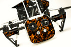 DJI Inspire 1 Quadcopter/Drone, Transmitter, Battery Wrap/Skin | Orange Flames