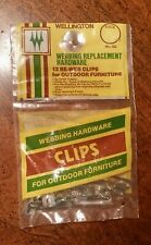 Vintage Webbing Replacement Hardware 12 Re-Web Clips for Outdoor Furniture Nos