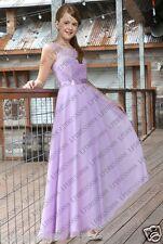 New Lace Princess Pageant Child Junior Flower Girl Dresses Bridesmaid Dress 2-16