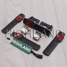 4pcs/set Black S LINE GRILL GRILLE REAR EMBLEM BADGE FOR AUDI A5 S5 A6 S6 A7 A8