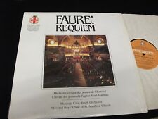 FAURE°REQUIEM<>MONTREAL CIVIC YOUTH<>LP Vinyl~Canada Pressing<>MCH RECORD