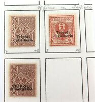 .ITALY c1909 ITALIAN ITALY OFFICES in TRIPOLI 3 MH HIGH GRADE OVERPRINT STAMPS.