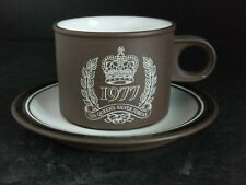 HORNSEA CONTRAST 1970's SILVER JUBILEE CUP AND SAUCER