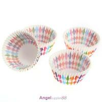 100pcs Cupcake Liner Baking Rainbow Cup Paper Muffin Case Cake Box Tray Mold