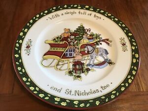 "Salad Plate  CHRISTMAS STORY Portmeirion Studios ""With a sleigh full of toys"""