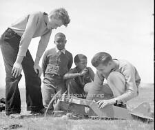 "Photo 1939 Oakland, California ""Boys Playing With Model Airplane"""