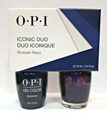 OPI Iconic Duo Russian Navy GCR54 NLR54 GelColor + Nail Lacquer Matching .5oz
