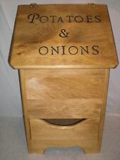 potatoe and onion bin  with bottom design and now black letters