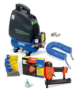 General Woodwork Air Brad Nailer Tacwise C1832V Air Compressor Oil free kit hose