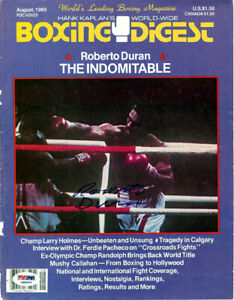 Roberto Duran Autographed Signed Boxing Digest Magazine Cover PSA/DNA COA S48936