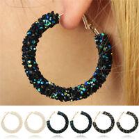 Fashion Women Elegant Hook Earrings Crystal Ear Stud Dangle Hoops Jewelry Gif OD
