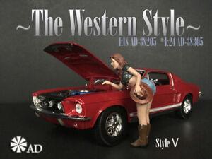 American Diorama Figure 1:18 Scale (10 cm) The Western Style V - AD-38205