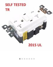10 pc lot Blank Dead Front GFCI Outlet Receptacle 20 Amp White 20A LED POOL