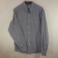 J Crew Mens Button Down Long Sleeve Oxford Plaid Dress Shirt Size MEDIUM