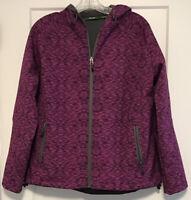 Stillwater Supply Co. Women's Fleece Lined Full Zip Jacket Size L Hooded Purple