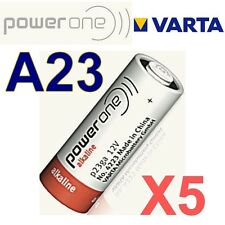Lot de 5 piles A23 POWER ONE by VARTA 12 Volts  LR23A GP23A V23GA MN21 -BULK-