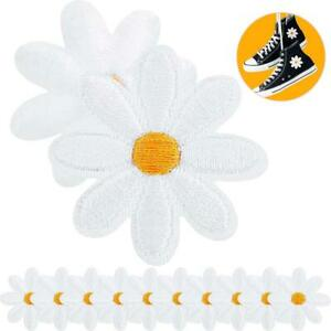 10x Daisy Flower Patches Embroidered Patch Sew on Iron On Clothes Crafts DIY