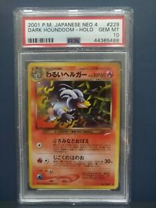 DARK HOUNDOOM HOLO PSA 10 NEO 4 DESTINY 2001 229 POKEMON MINT JAPANESE