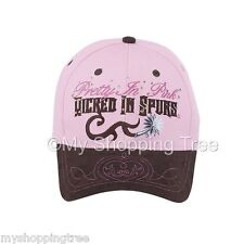 Pretty in Pink Wicked in Spurs Equestrian Western Horse  Baseball Cap NWT