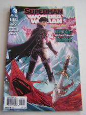 DC COMICS PROUDLY , SUPERMAN WONDER WOMAN , IN ENGLISH N° 5 DE 2014 .