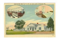 Somerset, Ky Greyhound Inn linen type used postcard 1944