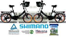 Sparangebot 2x Movena AFH20 Klapprad Elektro Pedelec E-Bike Faltrad 20 Zoll