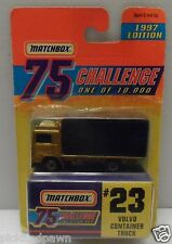 Vintage 1997 Matchbox Limited Ed Volvo Container Truck and Fire Truck Carded
