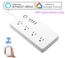 WiFi Smart Home Power Strip Surge Protector with 4 AC Outlets and 4 USB Ports