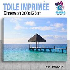 200x125cm -TOILE IMPRIMÉE TABLEAU POSTER DECO - PONTON MER OCEAN - PT02-01T