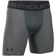 Under Armour Men NEW Heatgear Armour Mid Compression Shorts Gray size Small