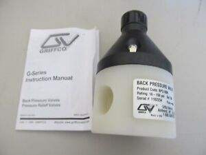 "Griffco 1""fnpt, Back Pressure Valve 10-150 psi, (50psi Set) Griffco, BPG100K"