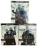 4K UltraHD + Blu-ray MATRIX 1 + RELOADED + REVOLUTION trilogia serie collezione