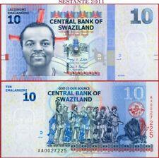 SWAZILAND SWASILAND - 10 EMALANGENI  6.9. 2010 - Prefix AA -  P 36a -  FDS / UNC