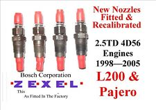 MITSUBISHI PAJERO SHOGUN 2.5 TD 4D56 NEW INJECTORS SET OF 4 Years 1998  To 2005