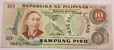 "TT PK 144a 1949 PHILIPPINES 10 PISO ""A. MABINI"""