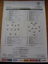 03/03/1999 Colour Teamsheet: Manchester United v Inter Milan [European Cup] (Wei