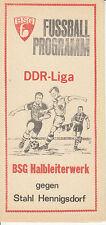 DDR-Liga 80/81 ZEPA semiconductores obra Frankfurt/O. - BSG acero hennigsdorf