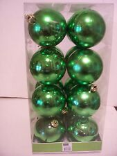 16 GREEN SHINY 2 1/2 IN CHRISTMAS ORNAMENTS DECORATION ST.PATRICKS DAY PATRIOTIC