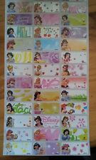 120 Disney Princess Pictures personalised name label (Small size)
