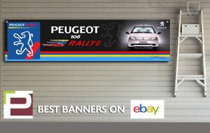 Peugeot 106 Rallye Garage Banner for Workshop, Garage, Showroom, Office etc