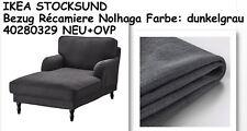 IKEA STOCKSUND Bezug für Récamiere Nolhaga dunkelgrau 40280329 NEU+OVP!