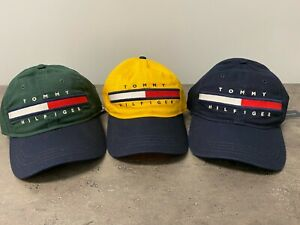 NEW Tommy Hilfiger Men's Logo Baseball Cap Hat Yellow/Green/Navy/White