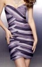 NWT Mori Lee Purple Ombre Mini Bodycon Homecoming Prom Cocktail Party Dress 6