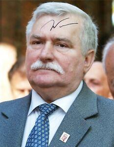 LECH WALESA   Autogramm original signiert Foto 20x25