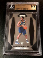 DONOVAN MITCHELL 2017 PANINI PRIZM #117 ROOKIE RC ALL BGS 9.5 SUBGRADES (A)