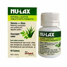 NEW Nu-Lax Natural Laxative Tablets with Prebiotic 40 Tablets Nulax
