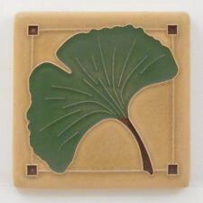 4x4 Arts & Crafts Gingko Tile in Spring by Arts & Craftsman Tileworks